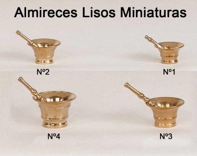 Almireces Lisos Miniatura fabricado en Bronce