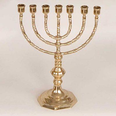Candelero Judío 7 Brazos. Fabricado en Bronce