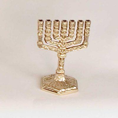 Candelero Judío 7 Brazos Mini. Fabricado en Bronce