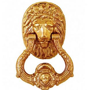Llamador León Brillo, fabricado en bronce