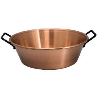 Caldero para Mermelada de Cobre, Especial para Gas, 9 L, 38 cm