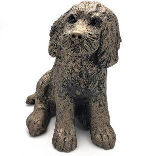 Frith Cocker Spaniel Raffles Figura en Bronce Fundido en frío Fabricado en Reino Unido