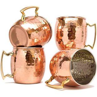 Pack de 4 Jarras de cobre