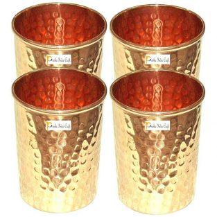 Pack de 4 vasos de cobre